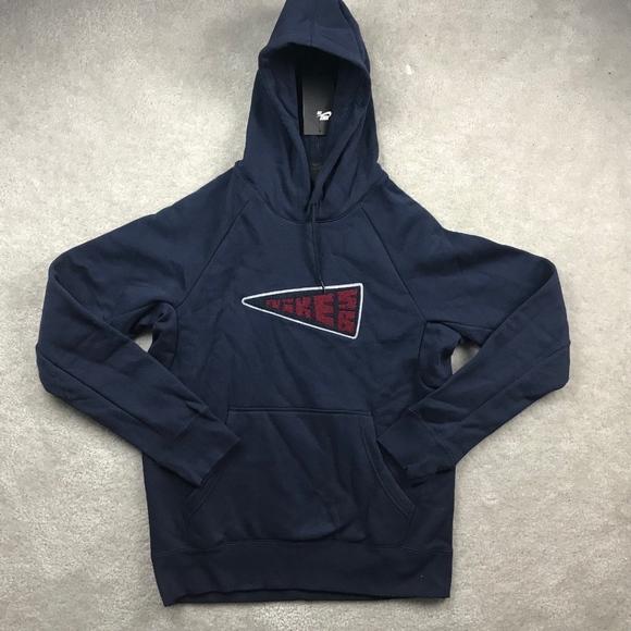 62b46e39b Nike Shirts | Sb Icon Banner Obsidian Navy Blue Red Hoodie | Poshmark